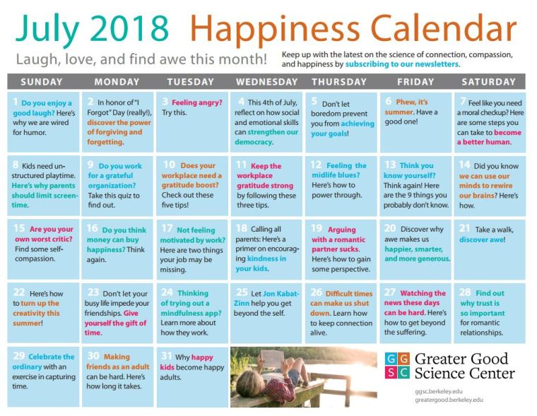 Happiness Calender
